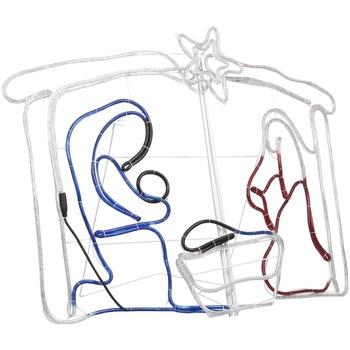 Casa Decorazioni festive VidaXL Decorazione natalizia 116 x 41 x 87 cm Multicolore