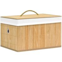 Casa Cestini, scatole e cestini Vidaxl Scatole Portaoggetti 4 pz in Bambù Marrone