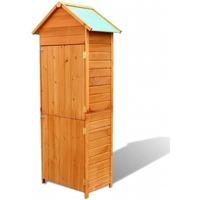 Casa Cestini, scatole e cestini Vidaxl Armadietto da Giardino Marrone 79x49x190 cm Marrone