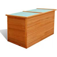 Casa Cestini, scatole e cestini Vidaxl Baule da Giardino 126x72x72 cm in Legno Marrone