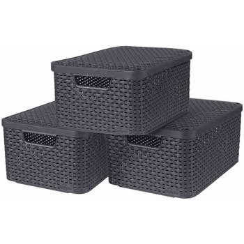 Casa Cestini, scatole e cestini Curver Scatola portaoggetti 40 x 29 x 19 cm Grigio