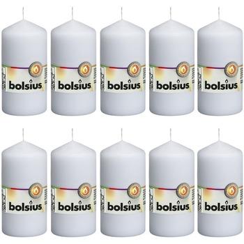 Casa Candele, diffusori Bolsius Candele Moccoli 10 pz 120x58 mm Bianche Bianco