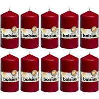 Casa Candele, diffusori Bolsius Candele Moccoli 10 pz 120x58 mm Rosso Vino Rosso