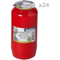 Casa Candele, diffusori Bolsius Candele Commemorative Compo No 7 24 pz Rosse Rosso