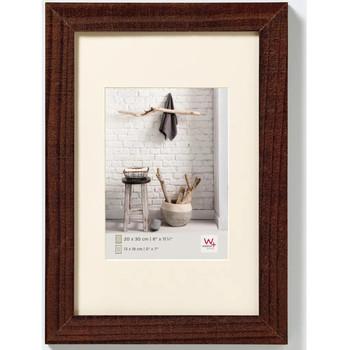 Casa cornici foto Walther Design Cornice per Foto Home 40x50 cm Noce Marrone