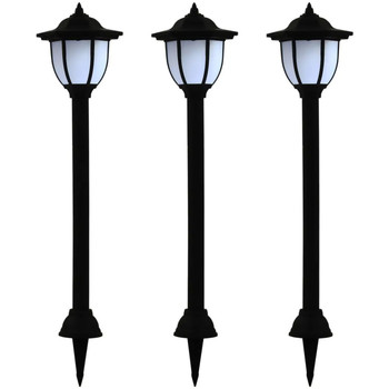 Casa Lampade da esterno  VidaXL Lampada solare Nero