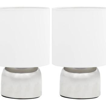 Casa Lampade da tavolo VidaXL Lampada da tavolo Bianco