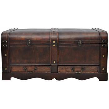 Casa Bauli, scatole di immagazzinaggio VidaXL Scatola portaoggetti 90 x 51 x 42 cm Marrone