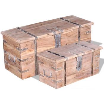 Casa Bauli, scatole di immagazzinaggio VidaXL Cassapanca Marrone