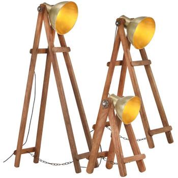 Casa Lampade da terra VidaXL Lampada da pavimento Oro