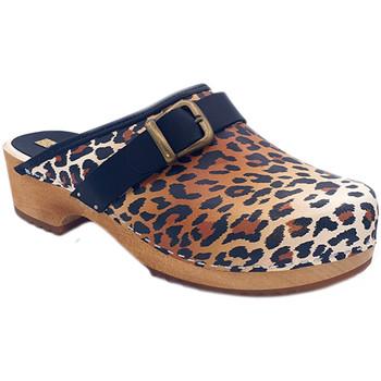 Scarpe Donna Zoccoli My Clogs MY6432 Leopard