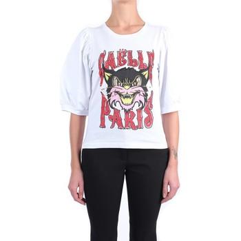 Abbigliamento Donna T-shirt maniche corte GaËlle Paris GBD8643 Manica Corta Donna Bianco Bianco