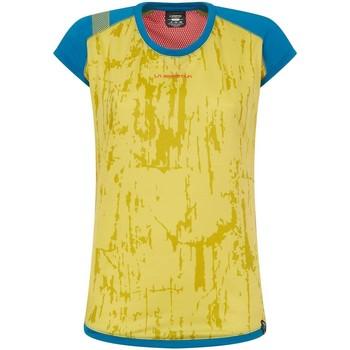 Abbigliamento Donna T-shirt maniche corte La Sportiva T shirt  Core Celery/Neptune Donna Giallo Giallo