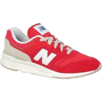 Scarpe Unisex bambino Sneakers basse New Balance 997 Bianco, Rosso