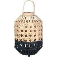 Casa Lanterne Signes Grimalt Lanterna Di Bambù Naturale Negro