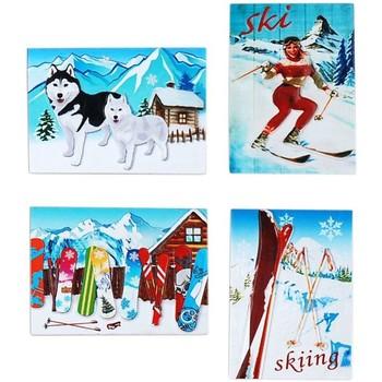 Casa Decorazioni natalizie Signes Grimalt Neve Magnetico Sett 4 U Multicolor