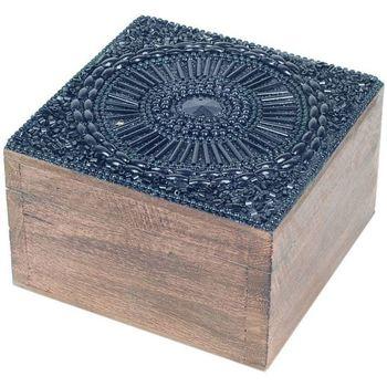 Casa Cestini, scatole e cestini Signes Grimalt Scatola Portagioie Quadrata Negro
