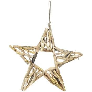 Casa Decorazioni natalizie Signes Grimalt Stella Con Legno Dorado