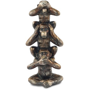 Casa Statuette e figurine Signes Grimalt Figura 3 Scimmie Dorado