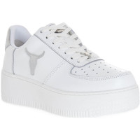 Scarpe Donna Sneakers Windsor Smith RICH BRAVE WHITE SILVER PERLISHED Bianco