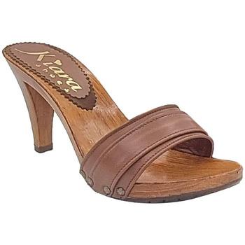 Scarpe Donna Sandali Kiara Shoes K6104 Marrone