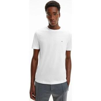 Abbigliamento Uomo T-shirt maniche corte Calvin Klein Jeans K10K107088YAF BIA T-shirt Uomo Uomo Bianco Bianco