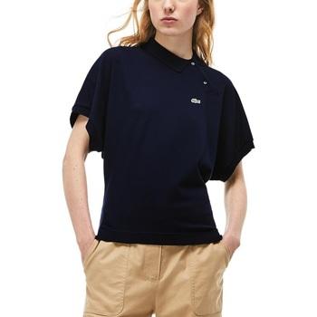 Abbigliamento Donna Polo maniche corte Lacoste PF3933-166 Blu