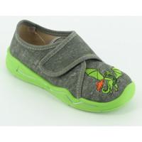 Scarpe Bambino Pantofole Superfit 298 pantofola velcro ricamo Grigio