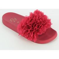 Scarpe Bambina ciabatte Colors of California JINFY018K ciabatta fiori fucsia Rosa