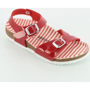 Scarpe Bambina Sandali Birkenstock 1012720 Rio nautical Rosso
