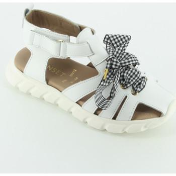 Scarpe Bambina Sandali Twin Set 201GCJ140 sandalo gabbietta Bianco