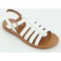 Scarpe Bambina Sandali Pom d'Api PLAGETTE STRAP sandalo fascie Bianco
