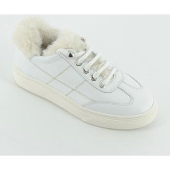 Scarpe Bambina Sneakers basse Hogan C3400 sneaker dettagli lana Bianco