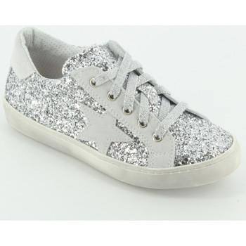 Scarpe Bambina Sneakers basse Let Me Be 9429/H sneaker total glitter Argento
