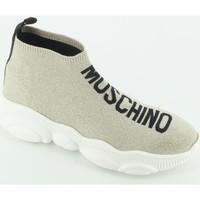 Scarpe Bambina Sneakers alte Moschino 63730 calza malleolo Oro