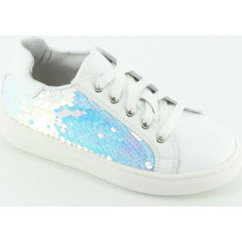 Scarpe Bambina Sneakers basse Let Me Be 9169PA sneaker paillettes Bianco