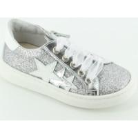 Scarpe Bambina Sneakers basse Let Me Be 9837 sneaker bassa glitter Argento