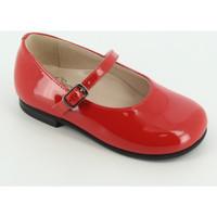 Scarpe Bambina Ballerine Il Gufo G234 Listino vernice/vitello Rosso