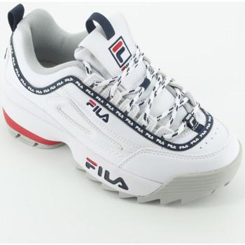 Scarpe Bambina Sneakers basse Fila Disruptor kids Logo Bianco