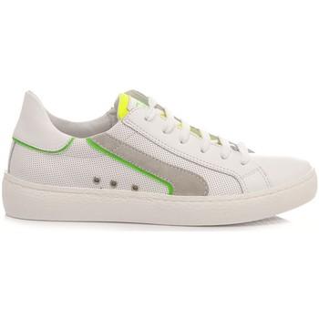 Scarpe Unisex bambino Sneakers basse Ciao Sneakers Bassa Bambini C4789.10 Bianco bianco, giallo, verde fluo