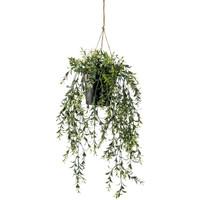 Casa Piante artificiali Emerald Cespuglio Sospeso di Bosso Artificiale in Vaso 50 cm Verde