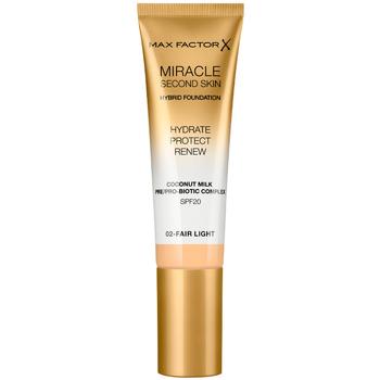 Bellezza Donna Fondotinta & primer Max Factor Miracle Touch Second Skin Found.spf20 2-fair Light 30 ml