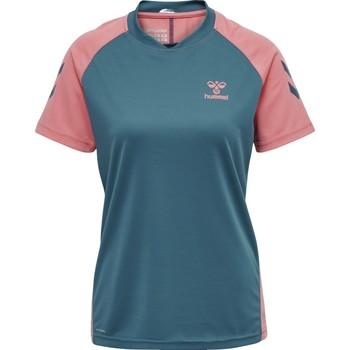 Abbigliamento Unisex bambino T-shirt & Polo Hummel Maillot d'entrainement enfant  hmlACTION bleu/rose
