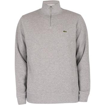 Abbigliamento Uomo Felpe Lacoste Felpa con collo a zip grigio