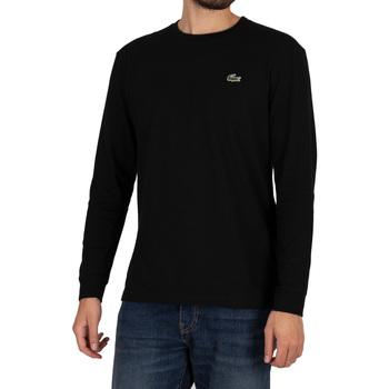 Abbigliamento Uomo T-shirts a maniche lunghe Lacoste T-shirt sportiva coccodrillo a maniche lunghe nero