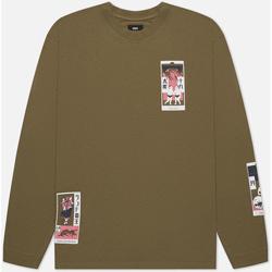 Abbigliamento Uomo T-shirt & Polo Edwin T-shirt manches longues  Tarot Deck II vert olive