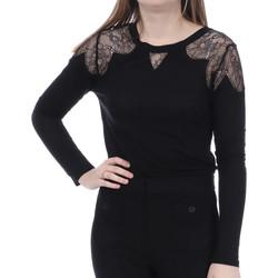 Abbigliamento Donna T-shirts a maniche lunghe French Connection 76GXT1 Nero