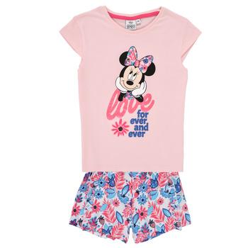 Abbigliamento Bambina Completo TEAM HEROES  MINNIE SET Rosa