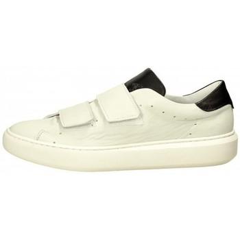 Scarpe Uomo Sneakers Pawelk's Sneaker in pelle liscia Bianco Bianco