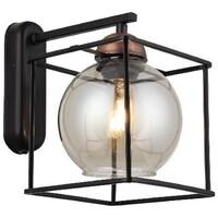 Casa Applique Homemania Lampada a Parete Arne, Nero, Rame, L25xP25xA23 cm Nero, Rame
